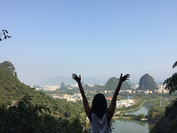 View of Guilin city from one of the karst hills