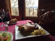 Cochinillo (roast suckling pig) with a view