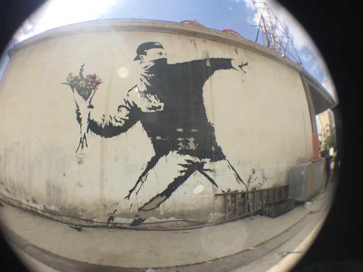 Banksy's graffitti in Palestine