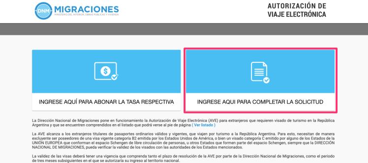 AVE Argentina Visa Filipinos 1
